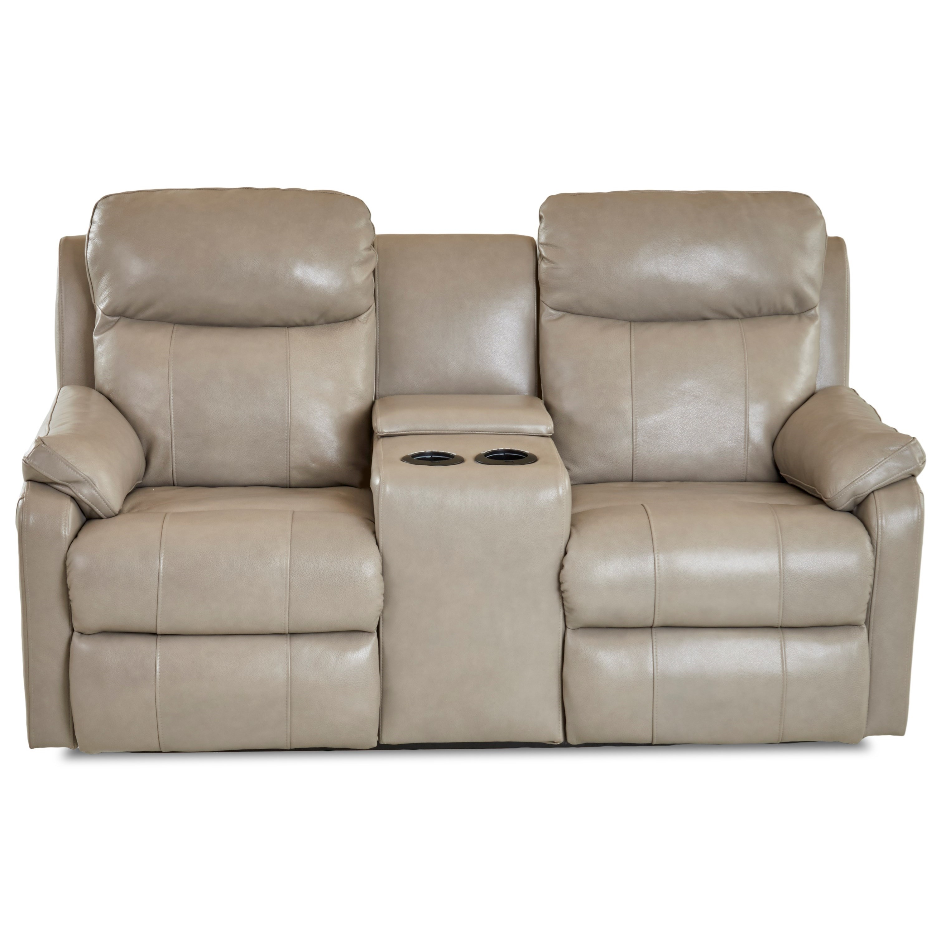 Solitaire Power Reclining LS w/ Console by Klaussner at Johnny Janosik