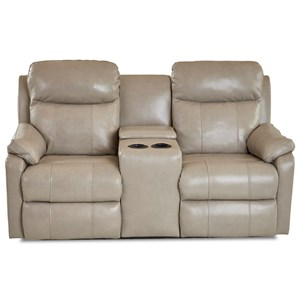 Casual Console Pwr Reclining Loveseat w/ USB Charging Ports and Adjustable Headrest