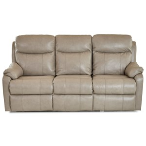 Casual Power Reclining Sofa with USB Charging Ports and Power Headrests