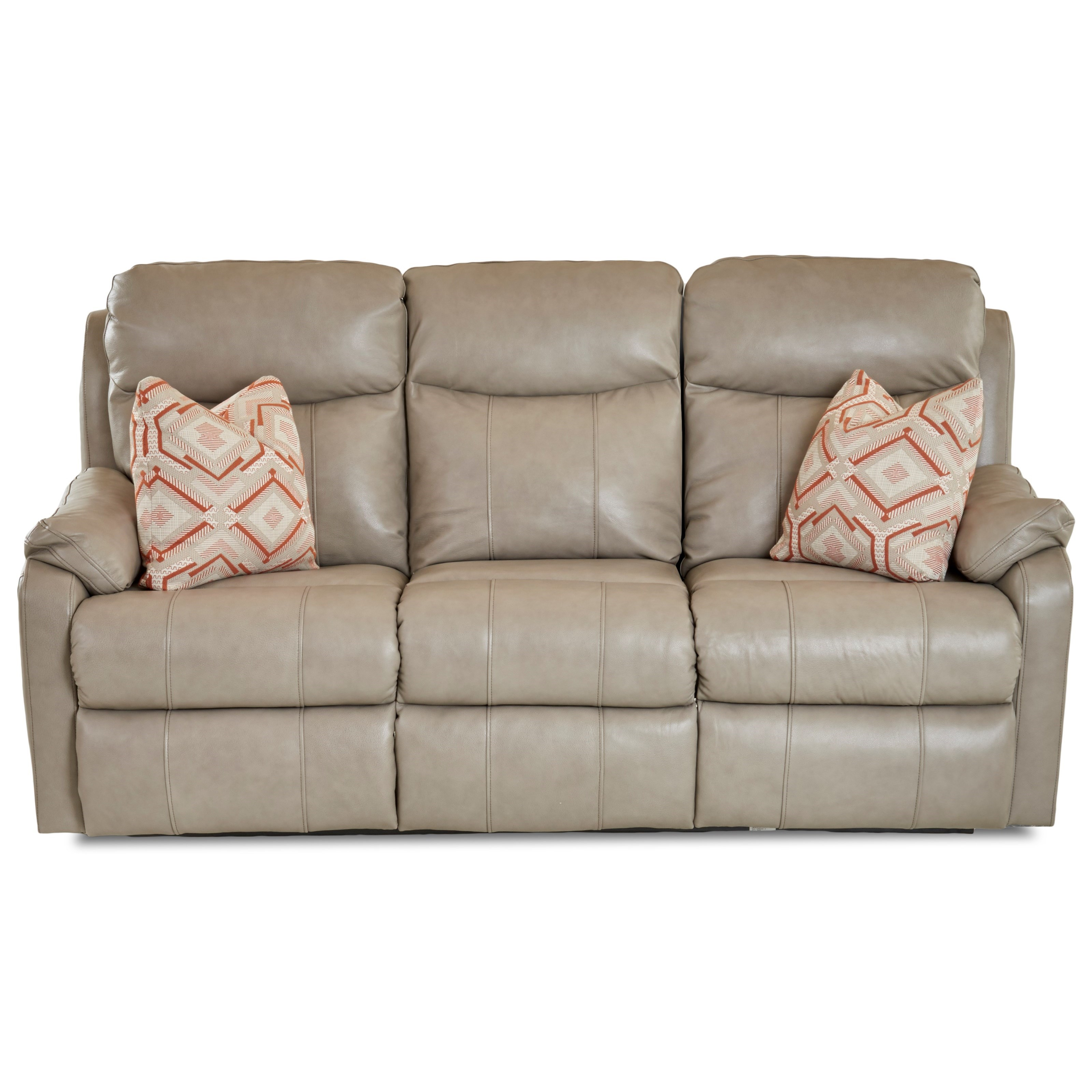 Solitaire Power Reclining Sofa w/ Pwr Head & Lumbar by Klaussner at Johnny Janosik