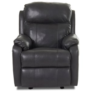 Casual Power Rocking Reclining Chair with USB Charging Port and Power Head & Lumabr