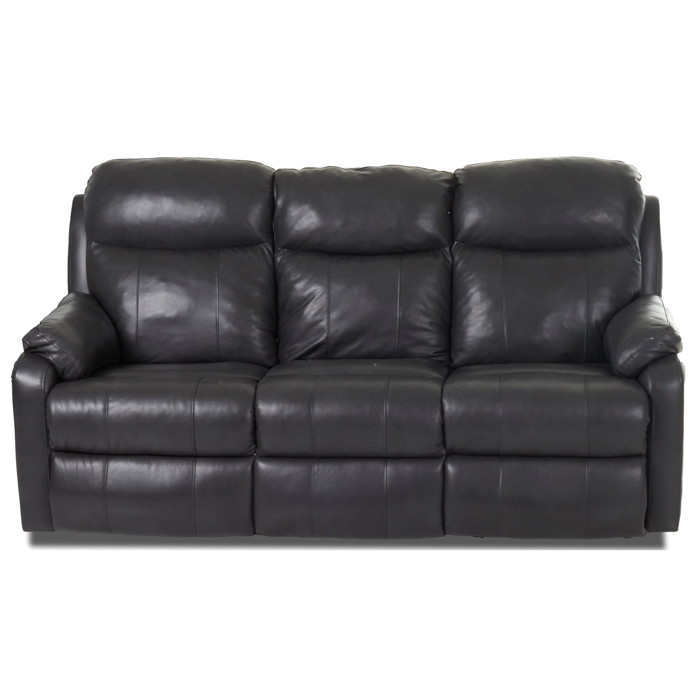 Solitaire Power Reclining Sofa w/ Pwr Head & Lumbar by Klaussner at Northeast Factory Direct