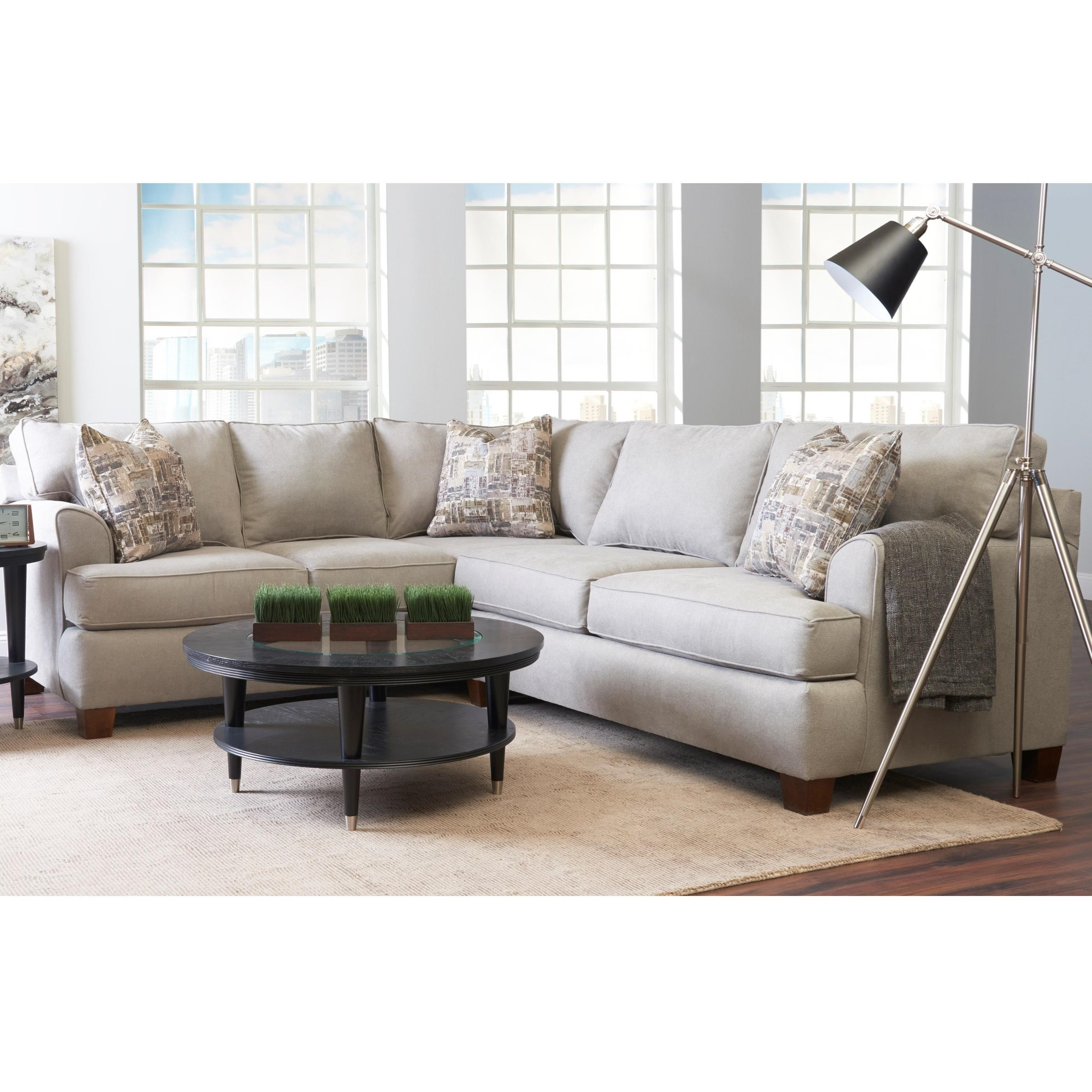 Sparks Sectional by Klaussner at Johnny Janosik