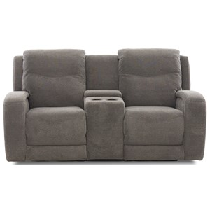 Power Reclining Loveseat w/ Console & Power Headrests