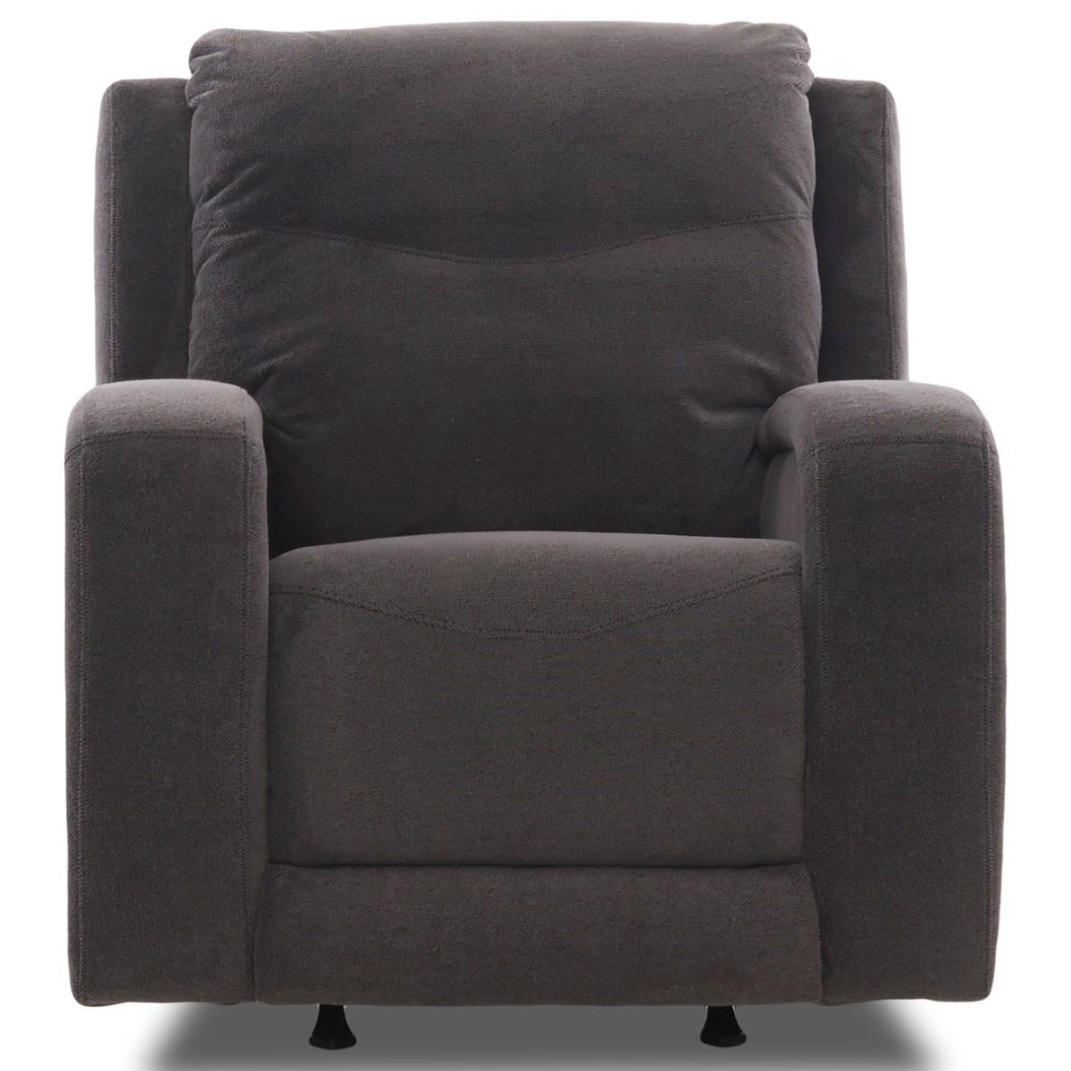 Terra Power Recliner w/ Power Headrest & Lumbar by Klaussner at Lapeer Furniture & Mattress Center