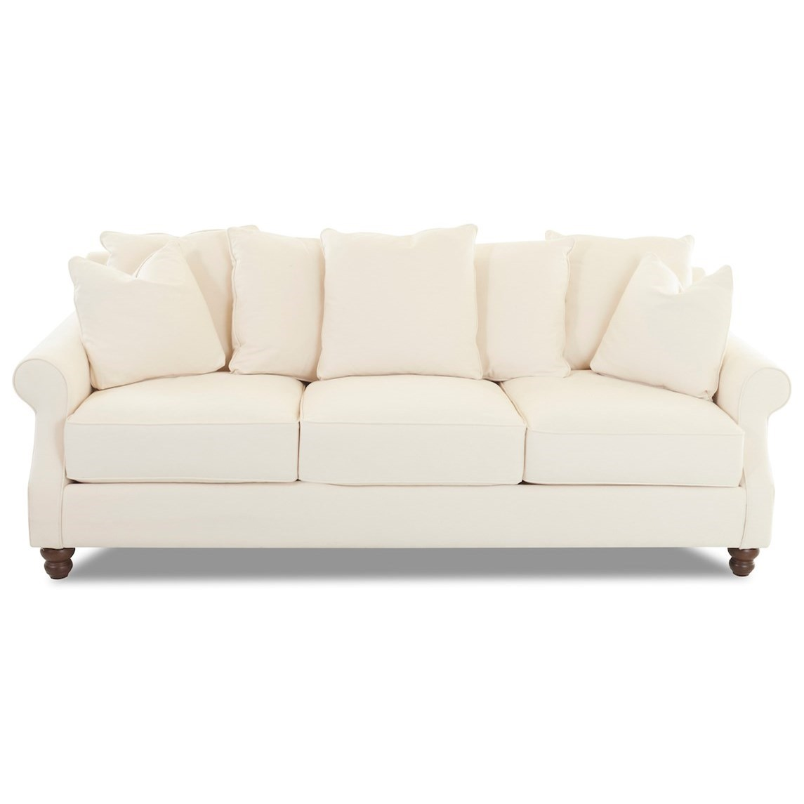 Tifton Sofa w/ Scattered Back Pillows by Klaussner at Johnny Janosik