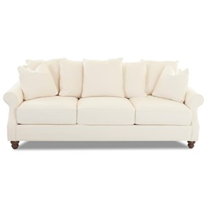 Traditional Sofa with Scattered Back Pillows