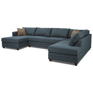 Three Piece Sectional Sofa with LAF Chaise