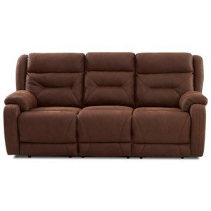 Casual Reclining Sofa with Extra Long Legrests