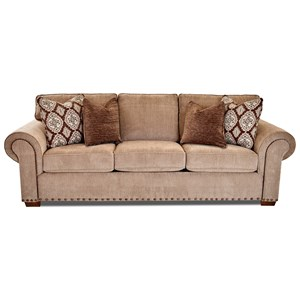 Traditional Sofa with Two Sizes of Nailheads