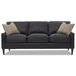Contemporary Customizable Sofa with Track Arms