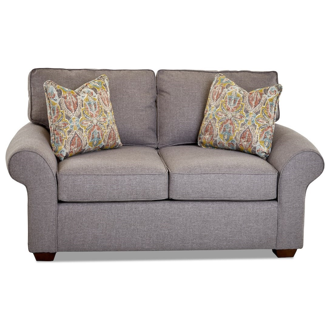 Troupe Loveseat by Klaussner at Northeast Factory Direct