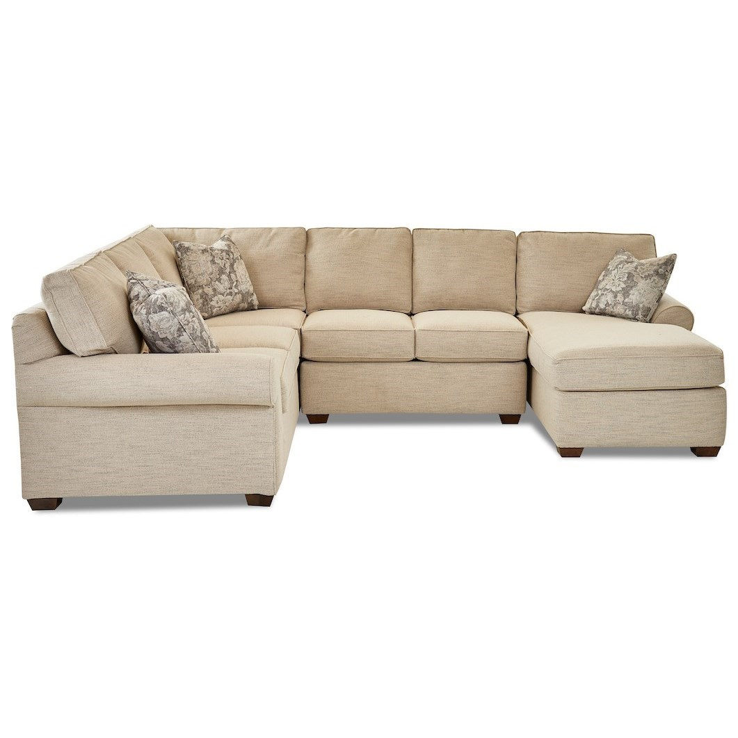 Troupe 3-Piece Sectional Sofa w/ RAF Chaise by Klaussner at Northeast Factory Direct