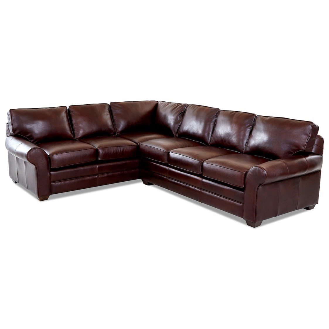Troupe 2 Pc Sectional Sofa w/ RAF Sofa by Klaussner at Johnny Janosik