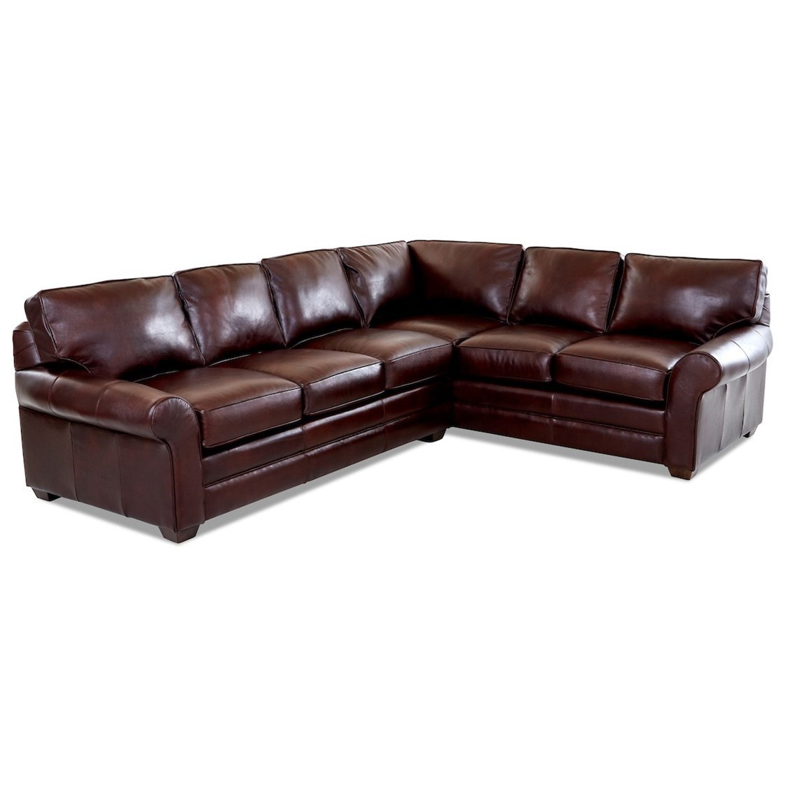 Troupe 2 Pc Sectional Sofa w/ LAF Sofa by Klaussner at Johnny Janosik