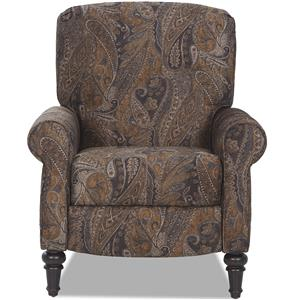 Traditional High Leg Recliner with Sock Rolled Arms