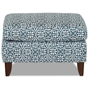 Contemporary Ottoman with Flared Legs