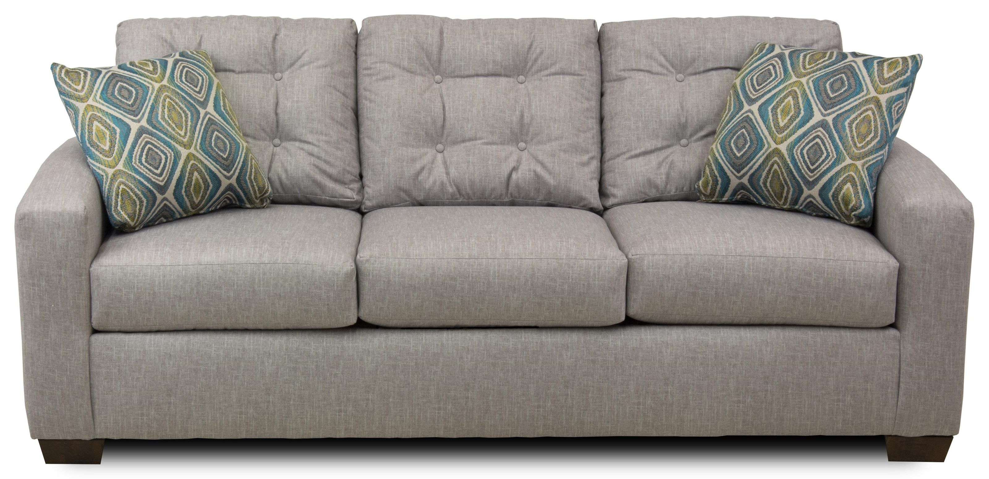 Contemporary Sofa with Tufted Back Cushions
