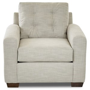 Contemporary Living Room Chair with Tufted Back Cushion