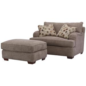 Klaussner Vaughn Chair and Ottoman