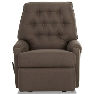 Reclining Rocking Chair with Tufted Back