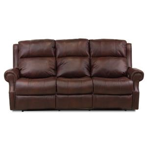 Traditional Power Reclining Sofa with Nailhead Border and USB Ports