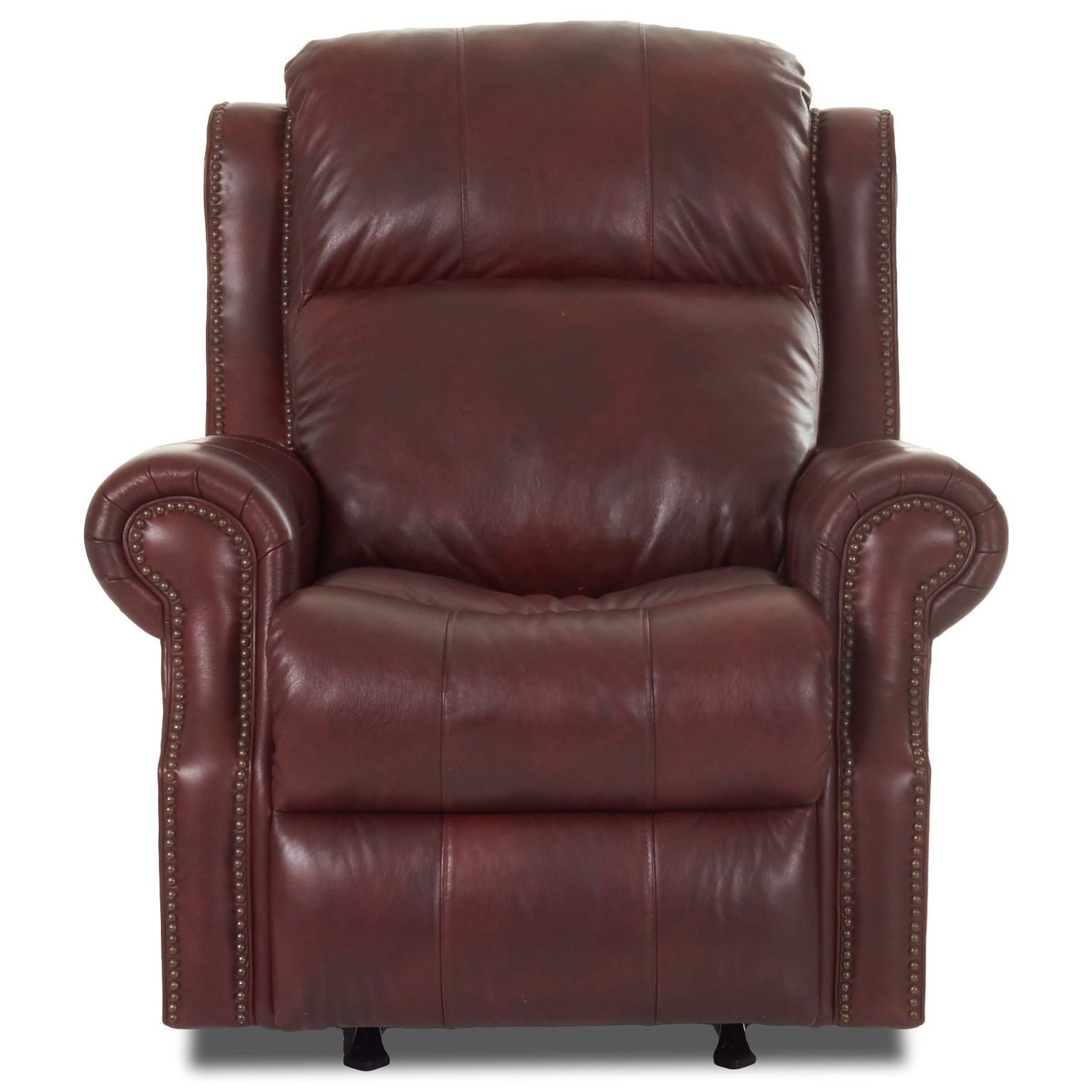 Vivio Power Rocking Reclining Chair w/ Pwr Head by Klaussner at Godby Home Furnishings