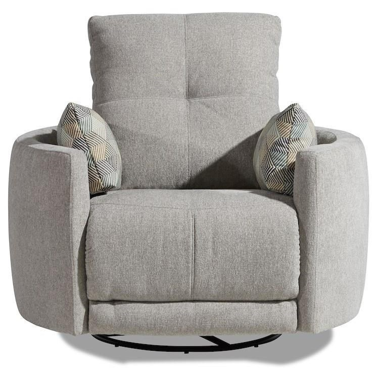 Waterloo Power Reclining Swivel Chair by Klaussner at Northeast Factory Direct