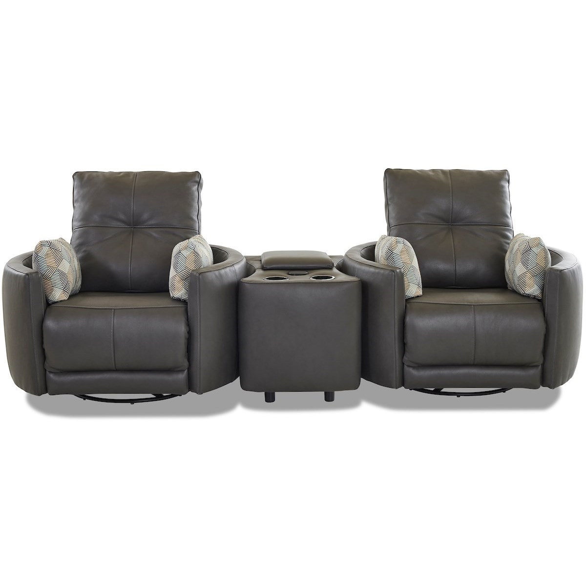 Waterloo 2-Seat Power Reclining Set with Console by Klaussner at Johnny Janosik