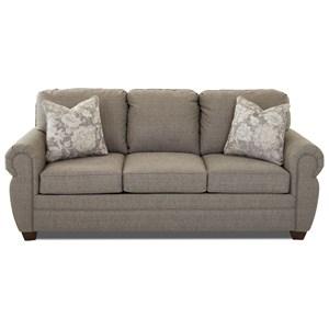 Rolled Arm Sleeper Sofa with Enso MemoryFoam Mattress