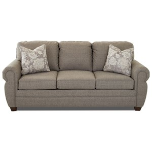 Rolled Arm Sleeper Sofa with Innerspring Mattress