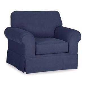 Skirted Chair w/ Sunbrella Fabric