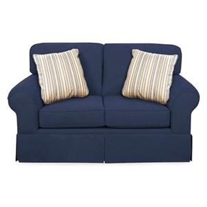 Casual Skirted Loveseat w/ Sunbrella Fabric