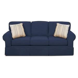Casual Skirted Sofa w/ Sunbrella Fabric