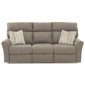 Casual Power Reclining Sofa (2 Recliners) with Toss Pillows