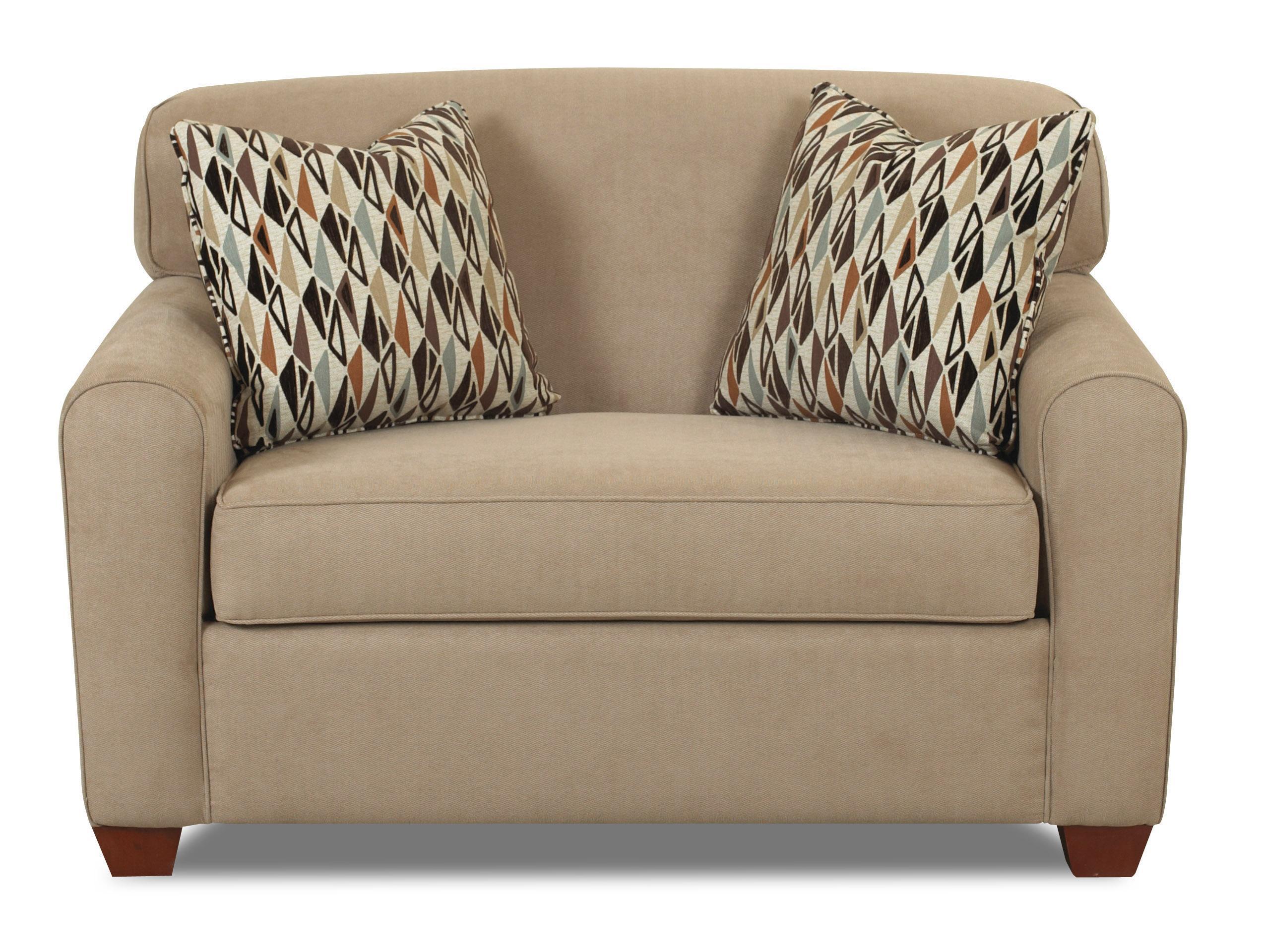 Zuma  Sleeper Chair w/ Dreamquest Mattress by Klaussner at Johnny Janosik