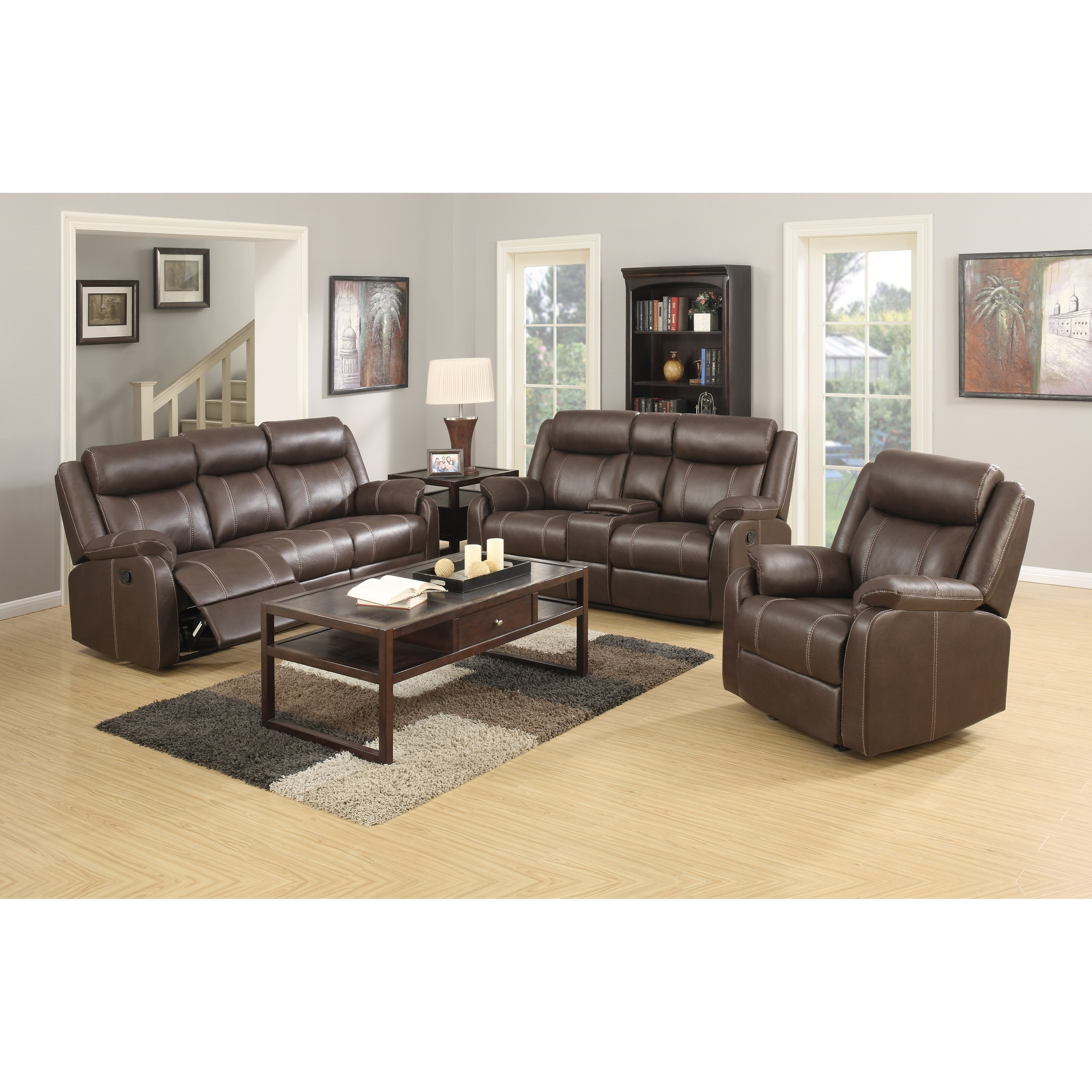 Domino-US Reclining Living Room Group by Klaussner International at Rooms for Less