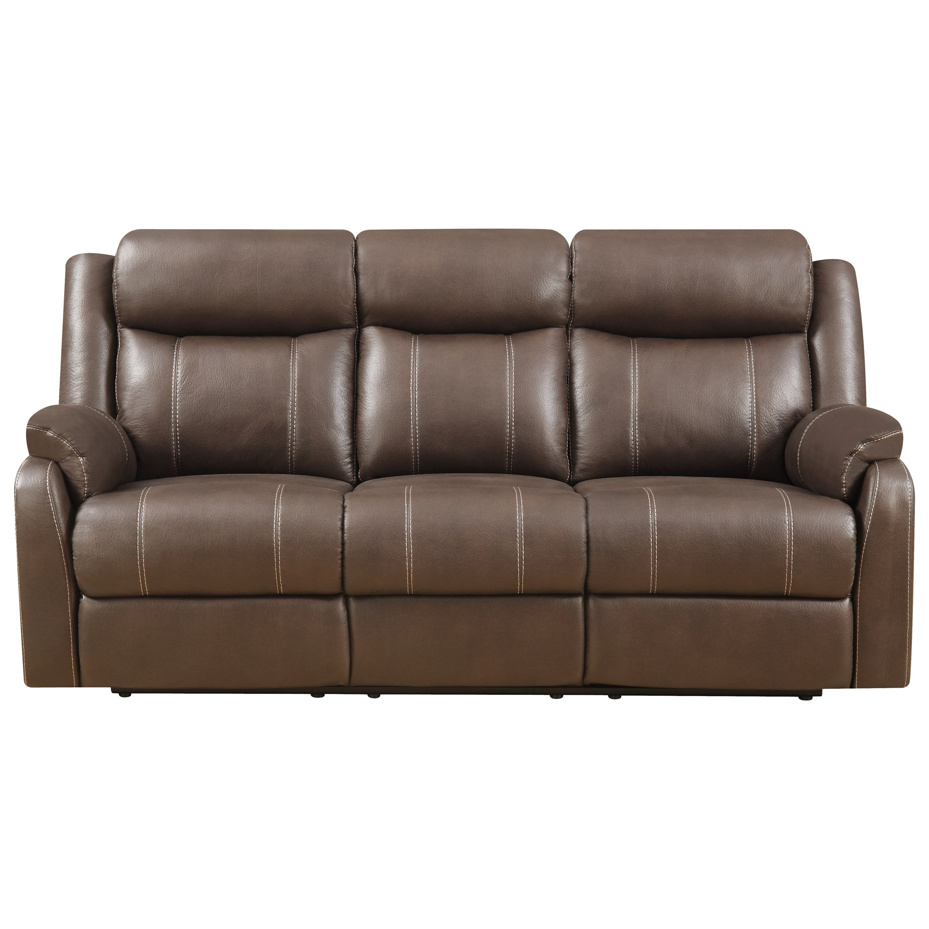 Domino-US Reclining Sofa W/table by Klaussner International at Pilgrim Furniture City