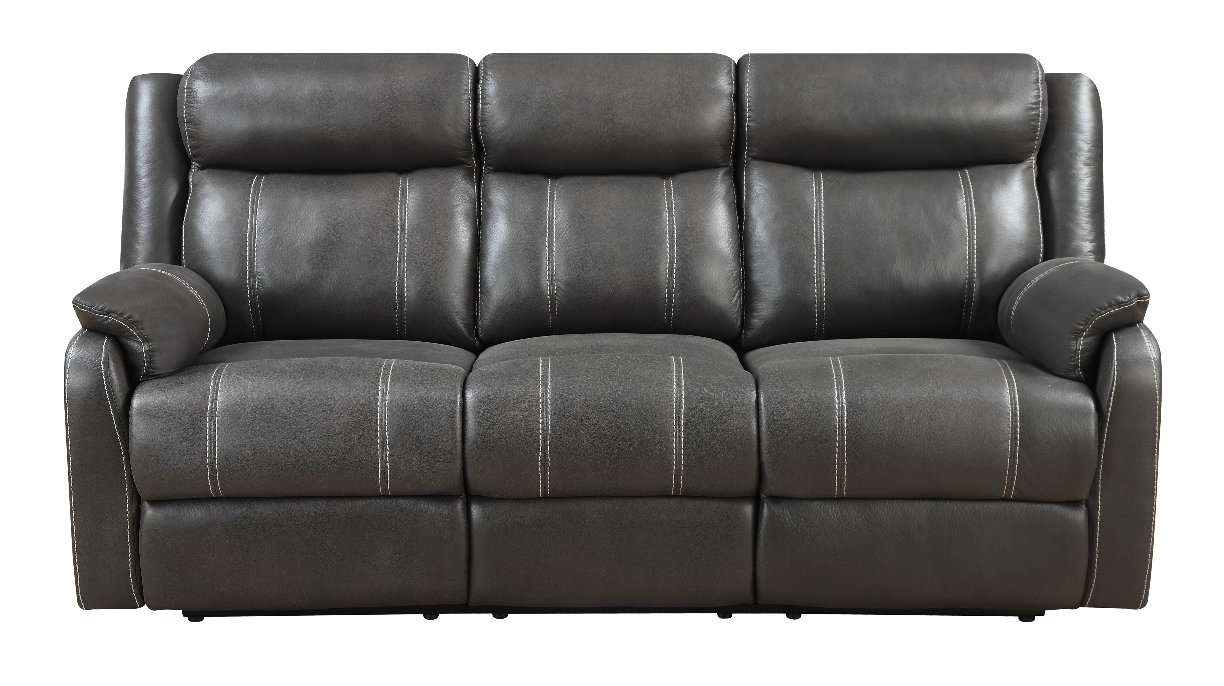 Domino-US Reclining Sofa W/table at Walker's Furniture