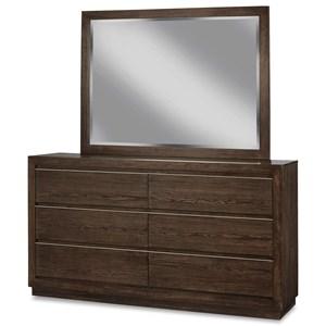 Casual Contemporary Dresser and Mirror Set