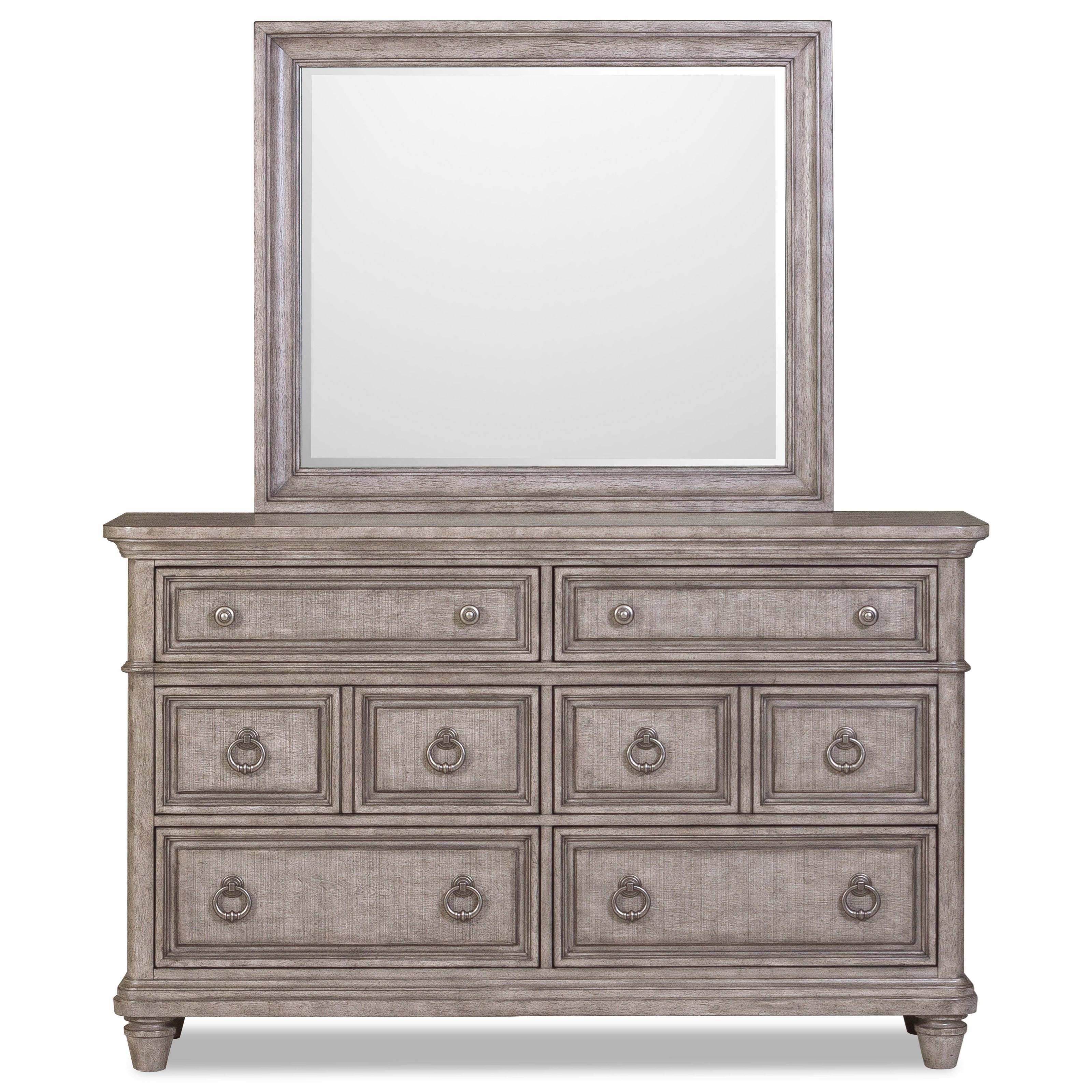 Blakeley Dresser & Mirror by Klaussner International at Northeast Factory Direct