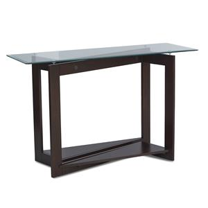 Modern Sofa Table with Glass Top