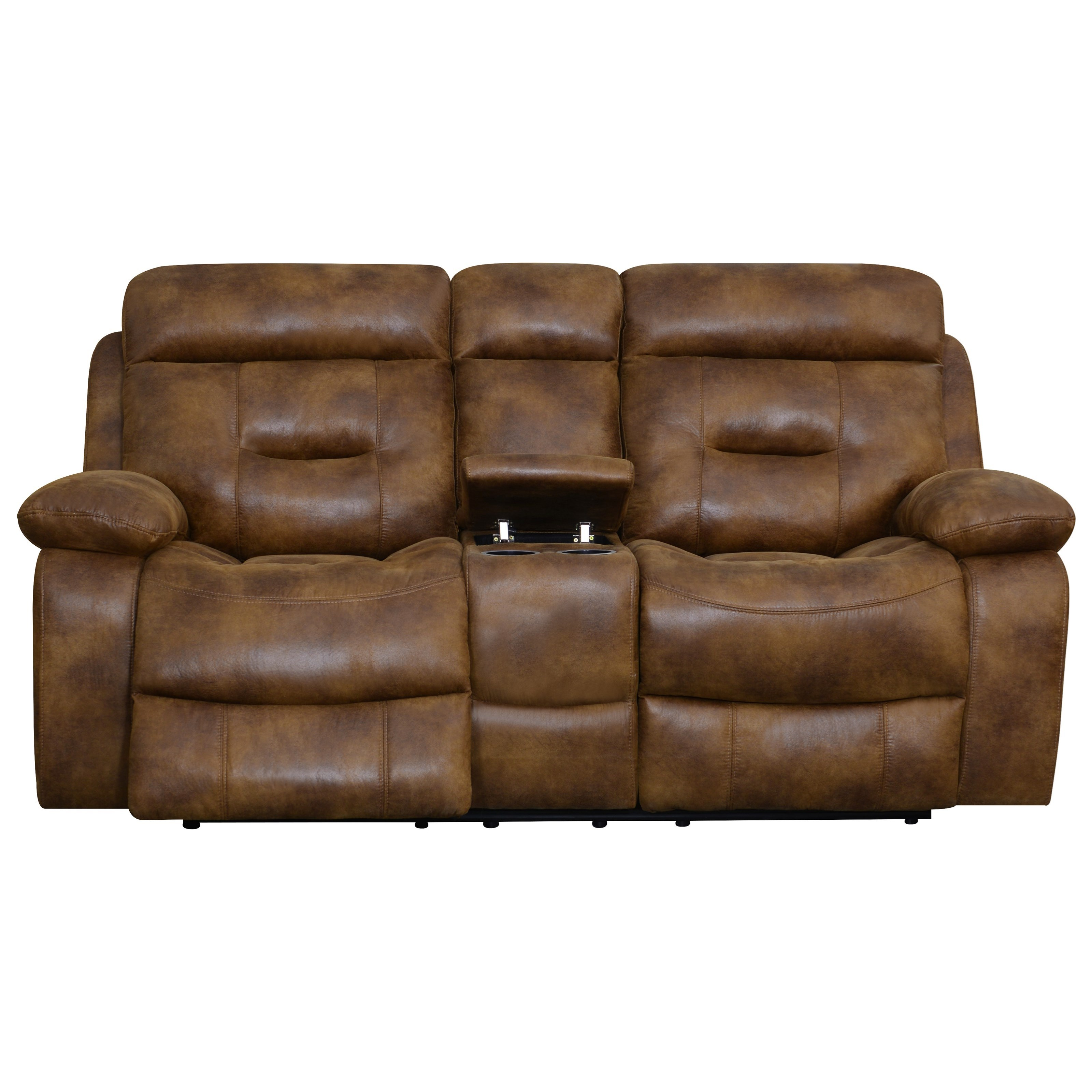 Cano Reclining Loveseat with Storage & Cupholders by Klaussner International at Northeast Factory Direct