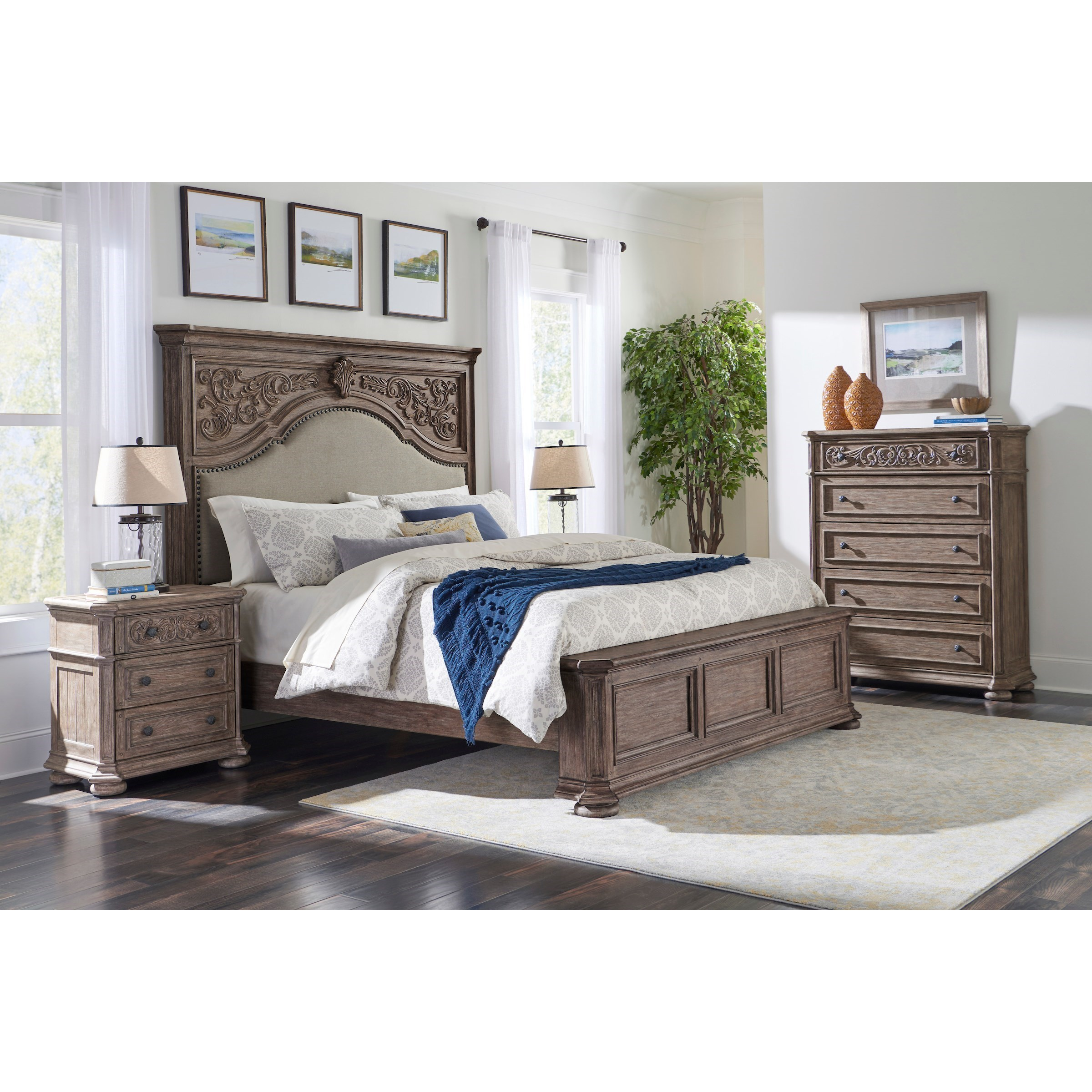 Cardoso King Bedroom Group  by Klaussner International at Northeast Factory Direct