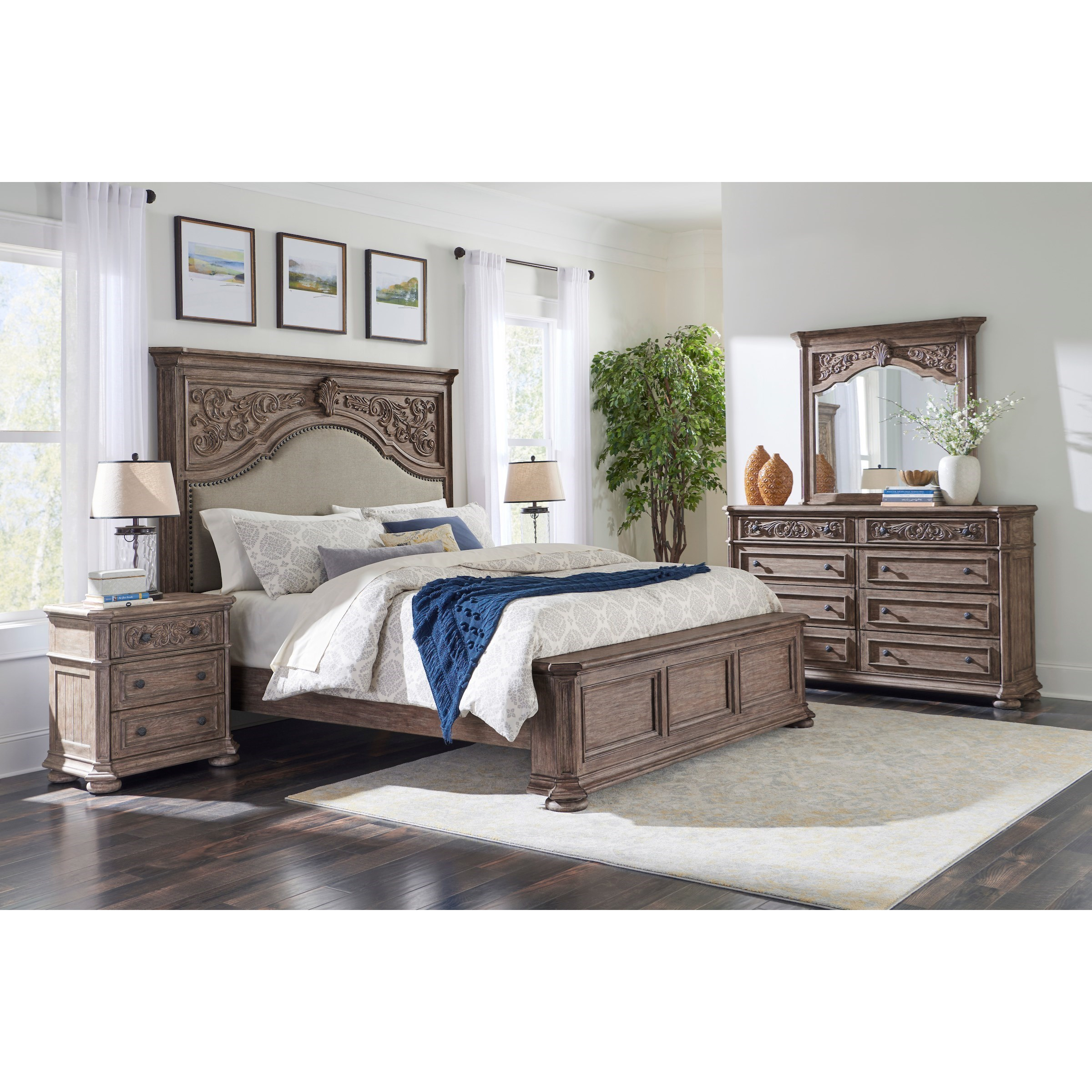 Cardoso California King Bedroom Group  by Klaussner International at Northeast Factory Direct