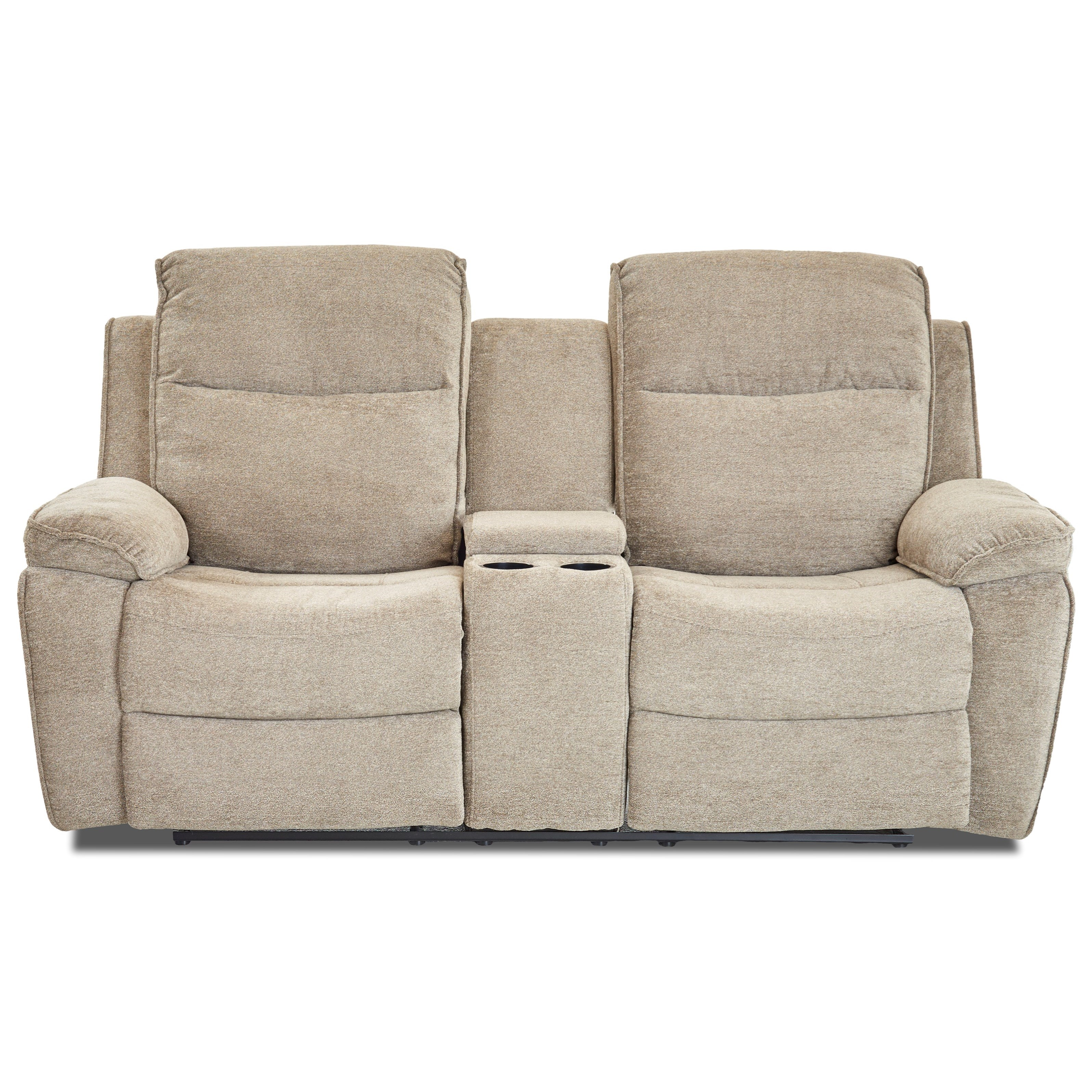 Castaway-US Console Reclining Loveseat by Klaussner International at Catalog Outlet