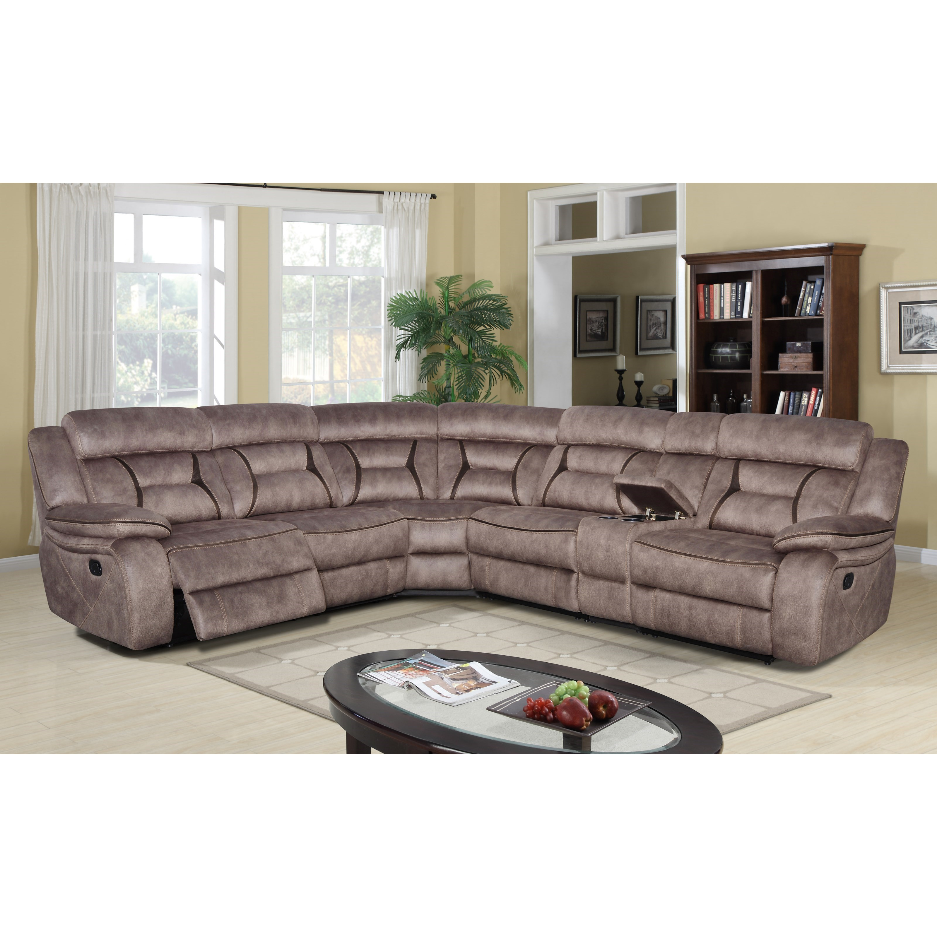 Cyrus 6 Pc Reclining Sectional Sofa by Klaussner International at Northeast Factory Direct