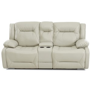 Power Reclining Loveseat with Drink Storage Console and Power Headrests