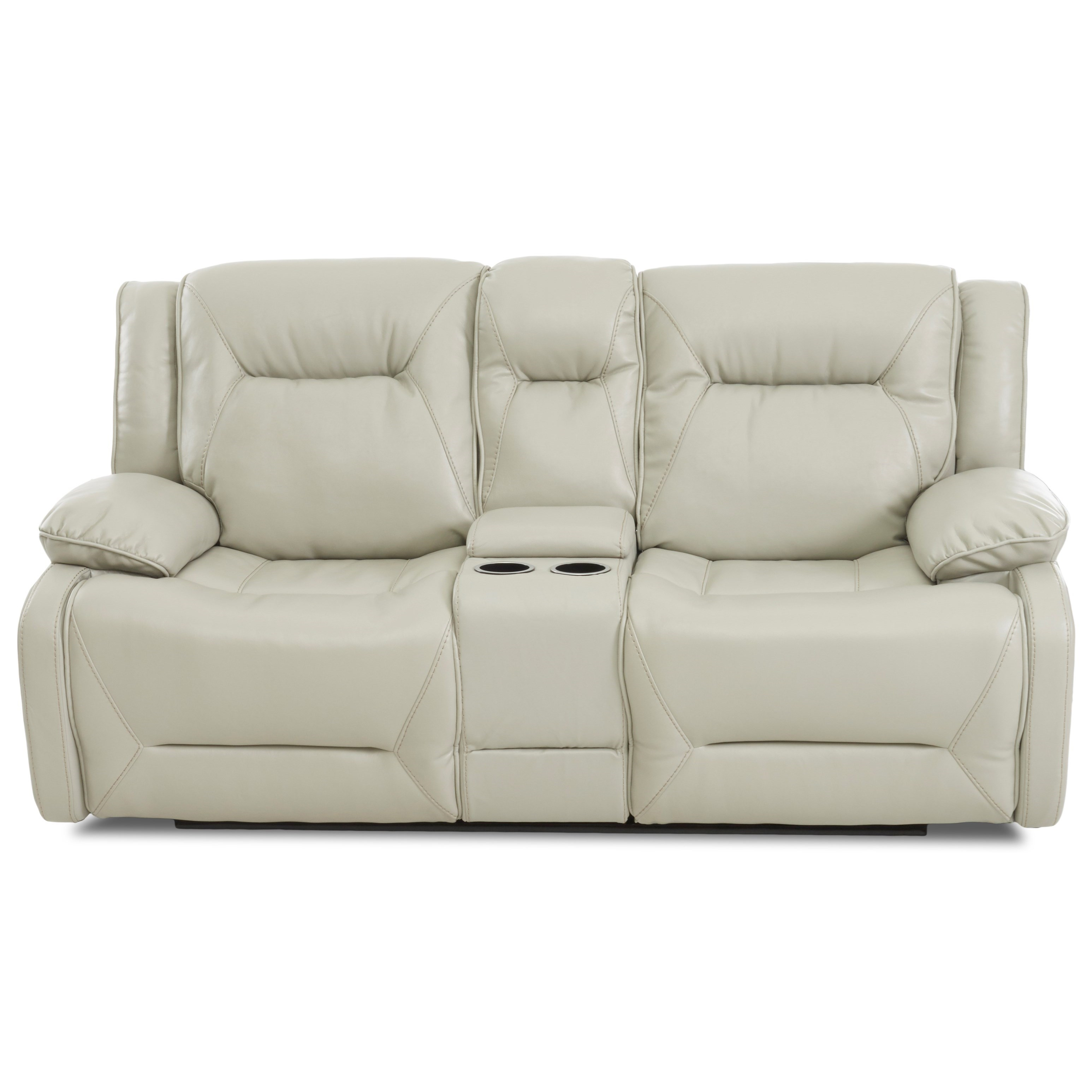 Dansby Power Reclining Console Loveseat by Klaussner International at Northeast Factory Direct