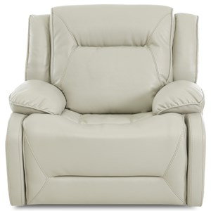 Casual Faux Leather Recliner